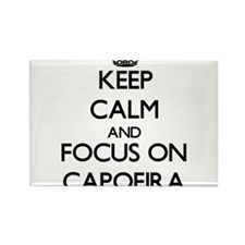 Keep calm and focus on Capoeira Magnets
