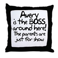 boss_avery Throw Pillow