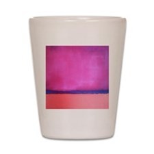 PINK BLUE PEACH ROTHKO Shot Glass