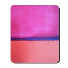 PINK BLUE PEACH ROTHKO Mousepad