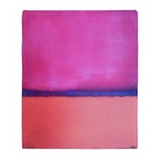 PINK BLUE PEACH ROTHKO Throw Blanket