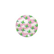 Green Bugs and Pink Sky. Mini Button (10 pack)