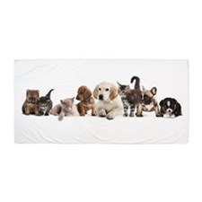 Cute Pet Panorama Beach Towel