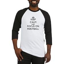 Keep calm and focus on Paintball Baseball Jersey