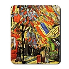 Van Gogh - Fourteenth of July Celebratio Mousepad