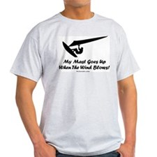 My Mast Goes Up (Windsurfing) T-Shirt