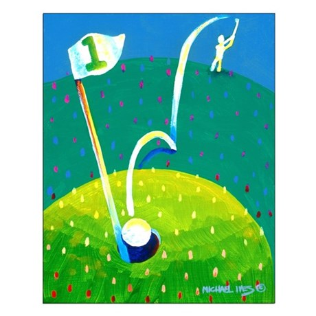 'Hole in One!' Small Poster