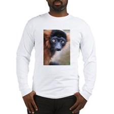 Red Ruffed Lemur Long Sleeve T-Shirt