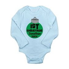 Personalized 1st Christmas Long Sleeve Infant Body