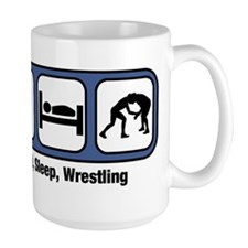 Eat, Sleep, Wrestling Mugs
