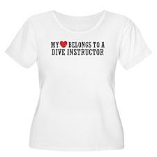 My Heart Belongs To A Dive Instructor T-Shirt