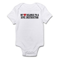 My Heart Belongs To A Dive Instructor Infant Bodys