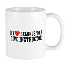 My Heart Belongs To A Dive Instructor Mug
