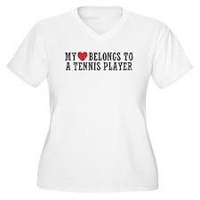 My Heart Belongs To A Tennis Player T-Shirt