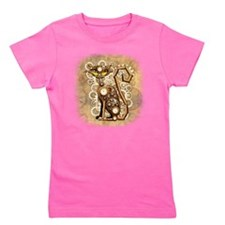 Steampunk Cat Vintage Style Girl's Tee