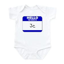 hello my name is jc  Infant Bodysuit