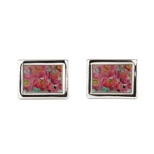 Poppies! Floral art! Cufflinks
