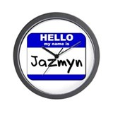 hello my name is jazmyn  Wall Clock