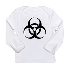 Black Bio-Hazard Long Sleeve T-Shirt