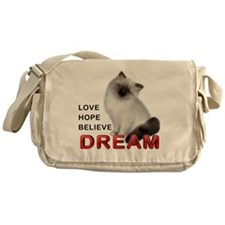 Love, Hope, Believe and Dream Messenger Bag