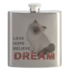 Love, Hope, Believe and Dream Flask