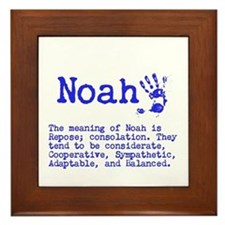The Meaning of Noah Framed Tile