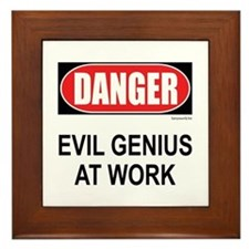 Evil Genius Framed Tile