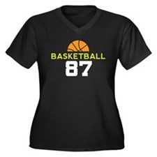 Custom Basketball Player 87 Women's Plus Size V-Ne