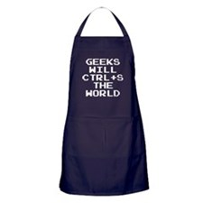 Geeks Will CTRL+S The World Apron (dark)