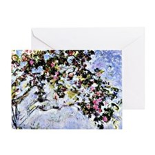 Renoir - The Rose Bush Greeting Card