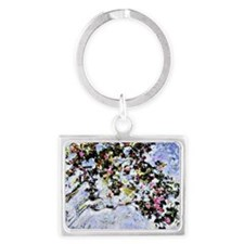 Renoir - The Rose Bush Landscape Keychain