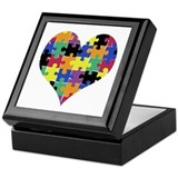 I HEART someone with Autism - Keepsake Box