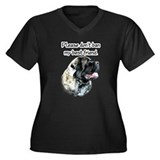 Mastiff fluffy BSL1 Women's Plus Size V-Neck Dark