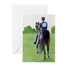 American Saddlebred Down The Road Greeting Cards