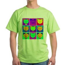 Pop Art Cartoon Cats T-Shirt