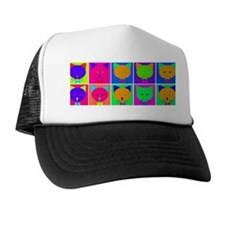 Pop Art Cartoon Cats Trucker Hat