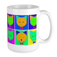 Pop Art Cartoon Cats Coffee Mug