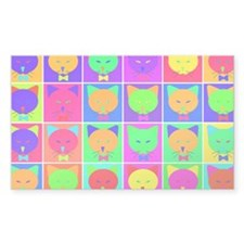 Pop Art Cartoon Cats Decal