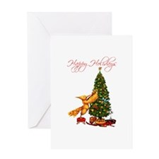 Mockingjay Happy Holidays Greeting Card