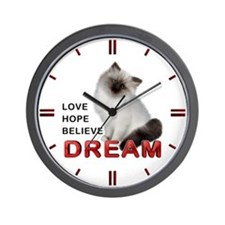 Cute Obama peace Wall Clock