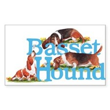 Basset Hounds Namegames Decal