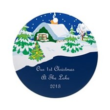 2013 1St Lake Christmas Ornament (Round)