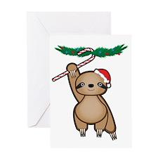 Holiday Sloth Greeting Cards