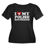 I Love My Polish Boyfriend Women's Plus Size Scoop