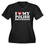 I Love My Polish Boyfriend Women's Plus Size V-Nec