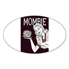 Mombie Retro Zombie 3x5 Low Decal