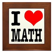 I Heart (Love) Math Framed Tile