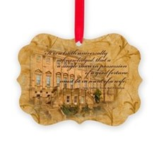 Jane Austen Quote Ornament