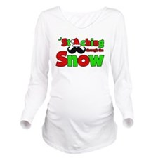 Staching Through the Snow Long Sleeve Maternity T-