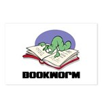 Bookworm Book Lovers Postcards (Package of 8)